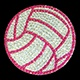 Volleyball (pink & silver)